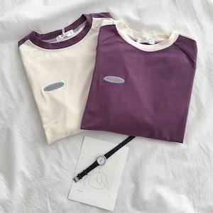 ワンポイントツートンカラーTシャツ S3958