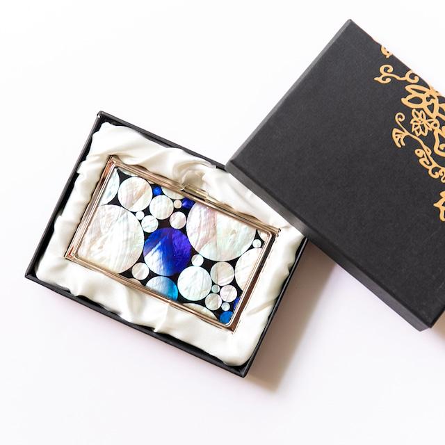 天然貝 名刺カードケース(プラネットロンド)シェル・螺鈿アート