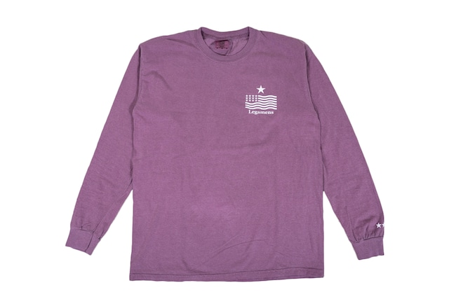 "【""USA"" vintage long sleeve】/ berry"