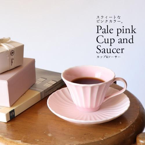 磁器 イチゴミルク色のカップ&ソーサー【MM-0023_MP】