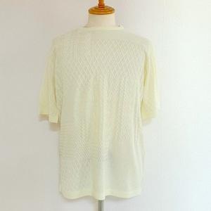 Crazy Pattern Short Sleeve Knit Off White