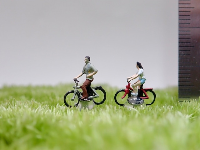 サイクリングペア《苔テラリウム・コケリウム用ミニチュアフィギュア》