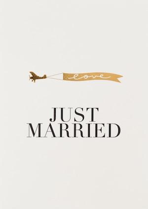 グリーティングカード Just Married  #863