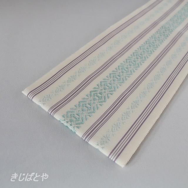 正絹 博多織の伊達締め 淡藤