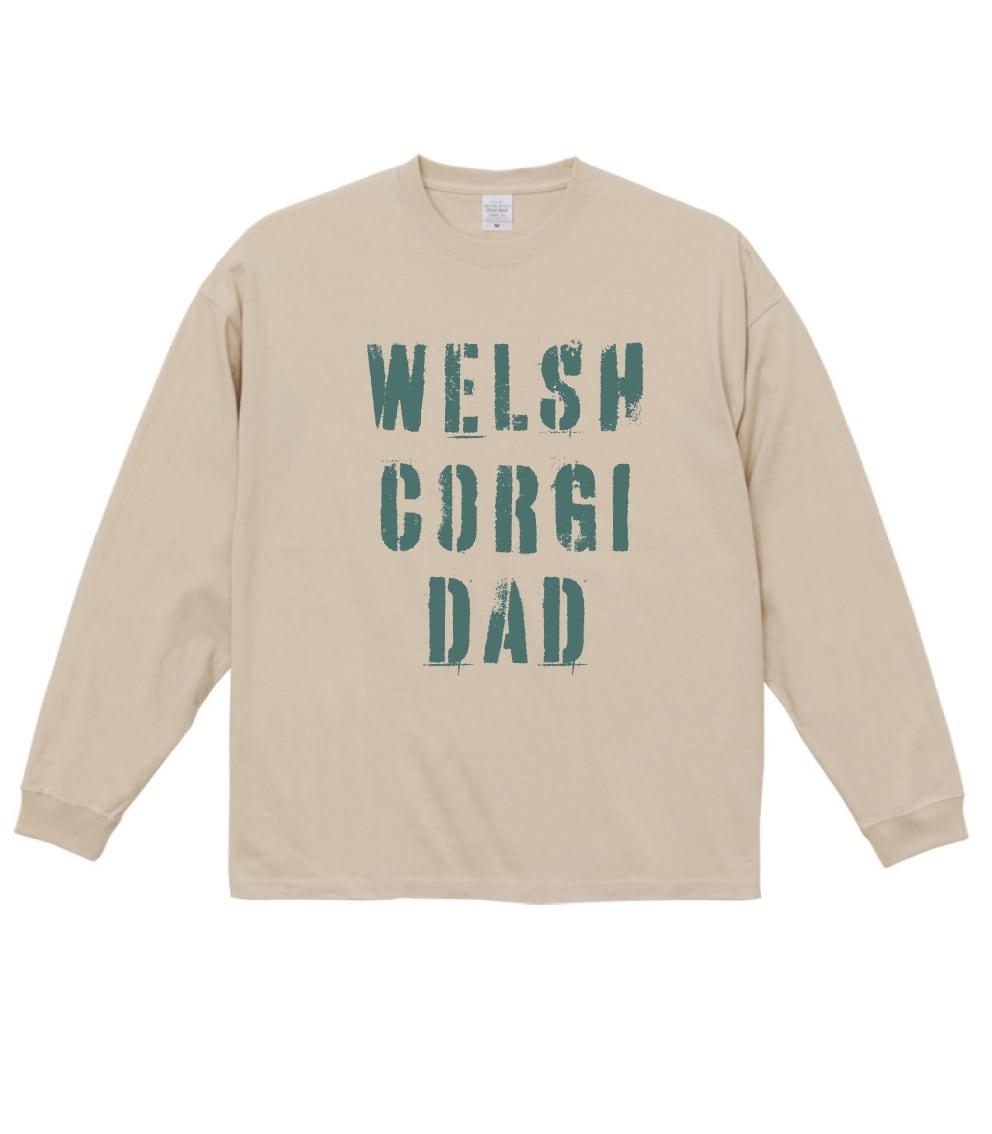 コーギーマム&コーギーダッド 長袖ビックシルエットTシャツ No.2021-WinterTS-005 ビックシルエット長袖Tシャツ:  コーギーマム&コーギーダッド Corgi Mom & Corgi Dad