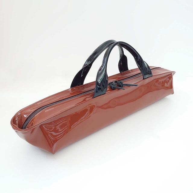 [ sugaya design lab エナメルバッグ ] ご予約  hosonaga  L ブラウン+ブラック