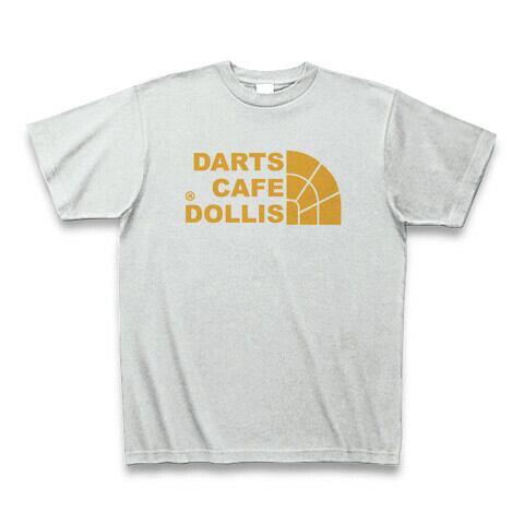 DOLLiSフェイスロゴTシャツ(灰/黄)