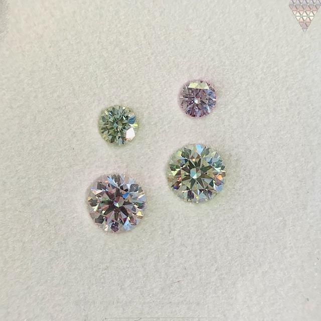 合計  0.75 ct 天然 カラー ダイヤモンド 4 ピース GIA  2 点 付 マルチスタイル / カラー FANCY DIAMOND 【DEF GIA MULTI】
