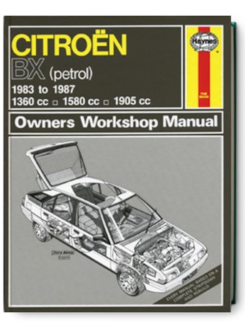 シトロエン・BX・1983-1987・オーナーズ・ワークショップ・マニュアル