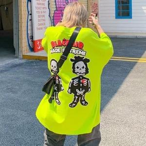 【トップス】男女兼用韓国系キュート半袖カジュアル図柄ファションTシャツ49943527