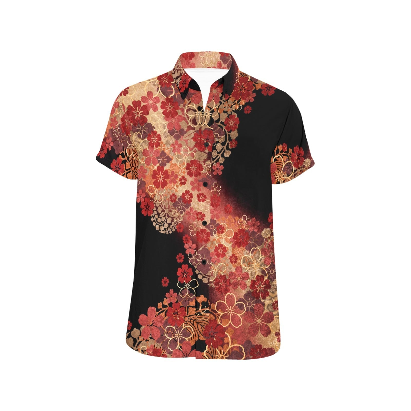 桜家紋 ユニセックス半袖シャツ