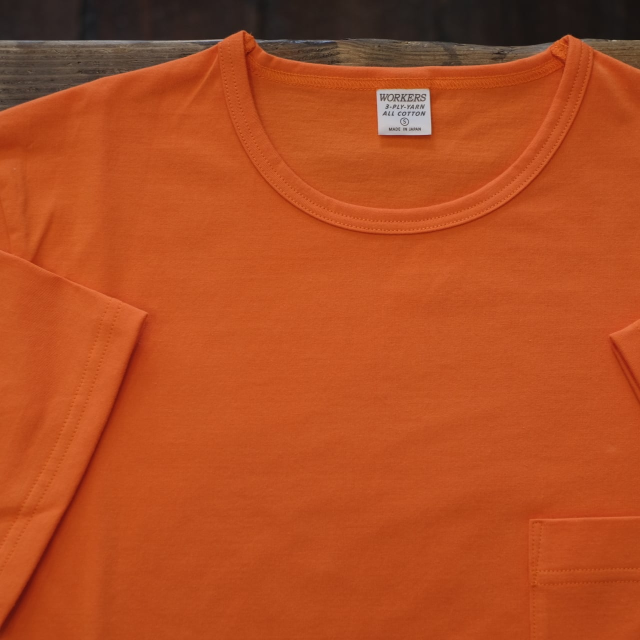 Workers(ワーカーズ) 別注 3PLYスリム ポケットTシャツ オレンジ