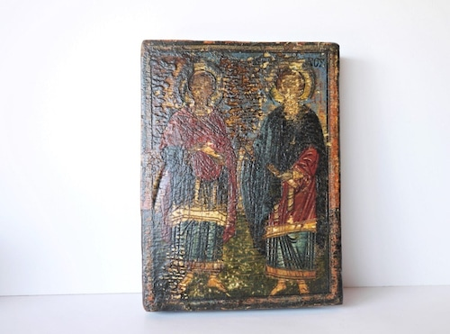 イコン画 壁掛板絵 教会信仰崇敬肖像 聖ペテロ&パウロ