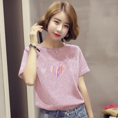 Cute♡ラメ入りキューティーハートTシャツ