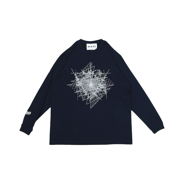 """LOCAL MAGAZINE 2ND ISSUE """"DEFEAT"""" HEAVY L/S TEE [UNIVERSENAVY]"""