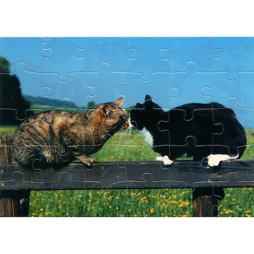 猫グリーティングカード(パズル型ポストカード)ご挨拶