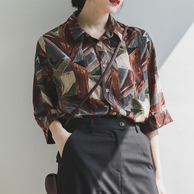Vintage print shirt  /  KRE028