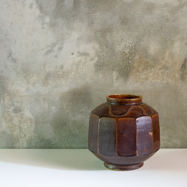 朝鮮 飴釉 面取壺