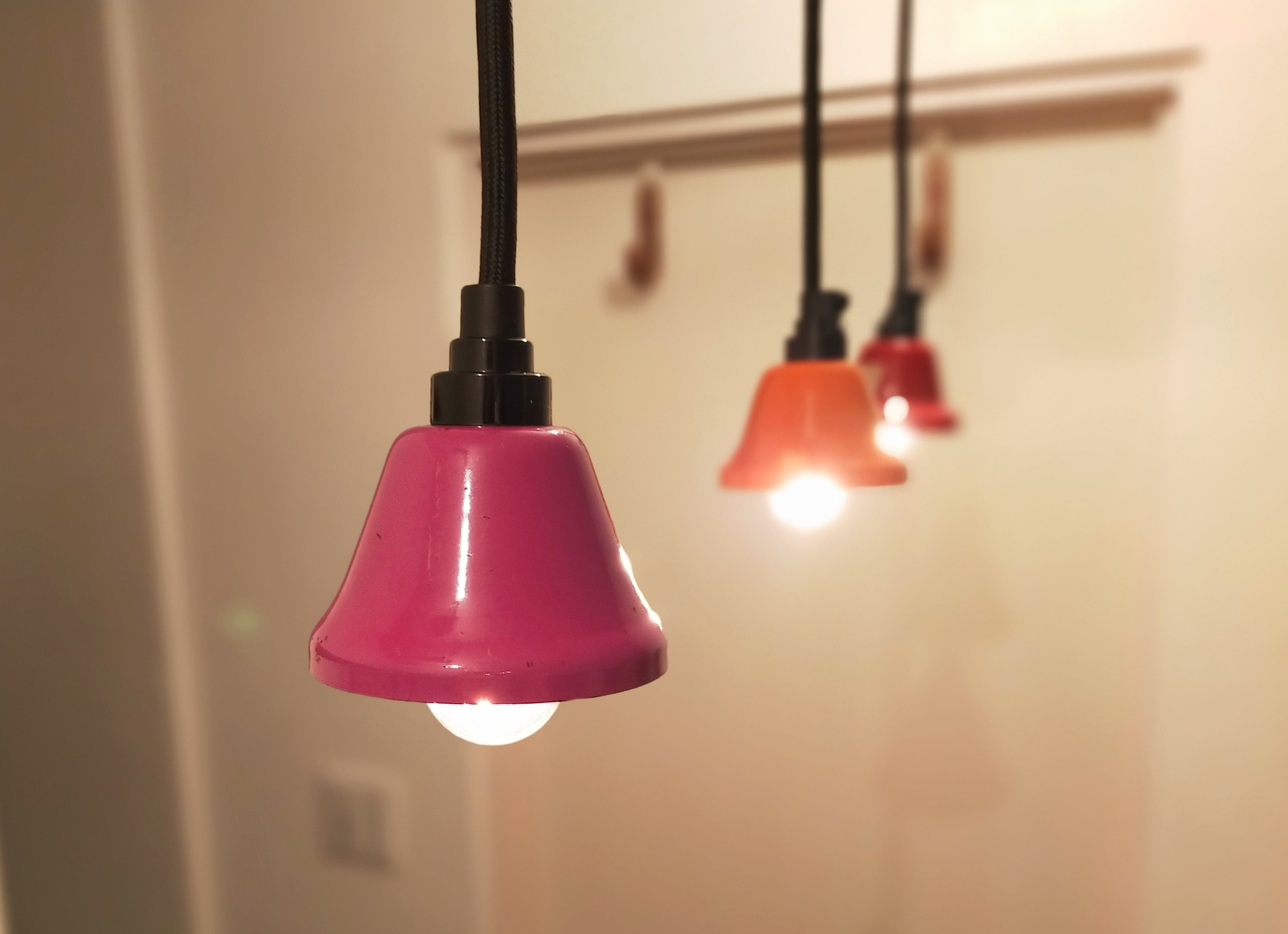 Pendant Light「Music Bell」Purple