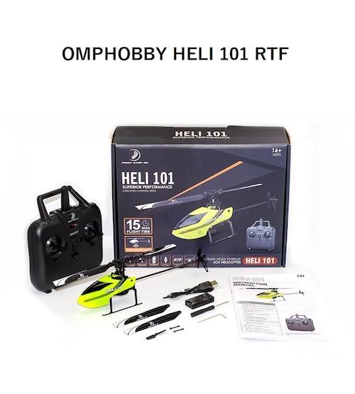 約15分飛行OK◆OMPHOBBY- HELI 101 4ch RTF ボタン押すだけで離着陸できます。