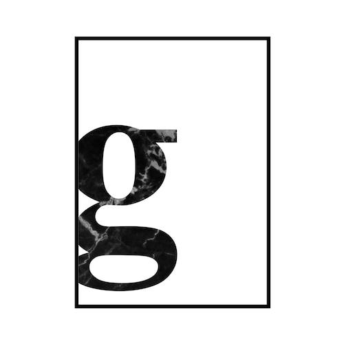 """g"" 黒大理石 - Black marble - ALPHAシリーズ [SD-000534] A4サイズ ポスター単品"