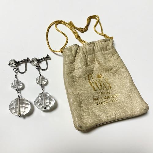 Vintage Sterling Screw Back Beatiful Cut Bijoux Dangle Earrings