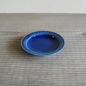 感器工房 波佐見焼 翔芳窯 ローズマリー リムプレート 皿 約10cm ブルー 333089