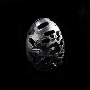 Sculpture EGG 〈Pewter Silver〉-AmyGlenn-