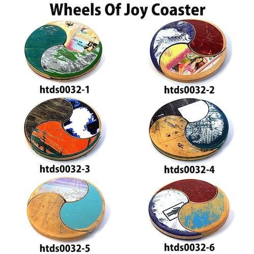 Wheels Of Joy Coaster スケートボード コースター 1点物 インテリア 置物 おしゃれ グッズ 雑貨 木製 木目 木製 ナチュラル 天然木 オリジナル