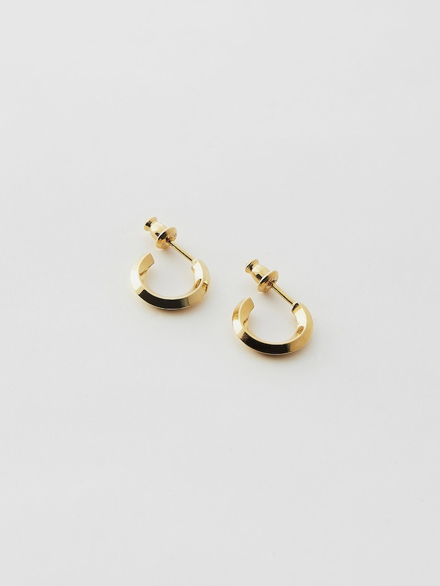 WEISS Pair Round Flame Earring Gold wei-pigd-07p