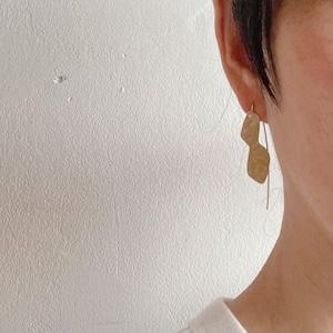 hook earring / brass+silver950
