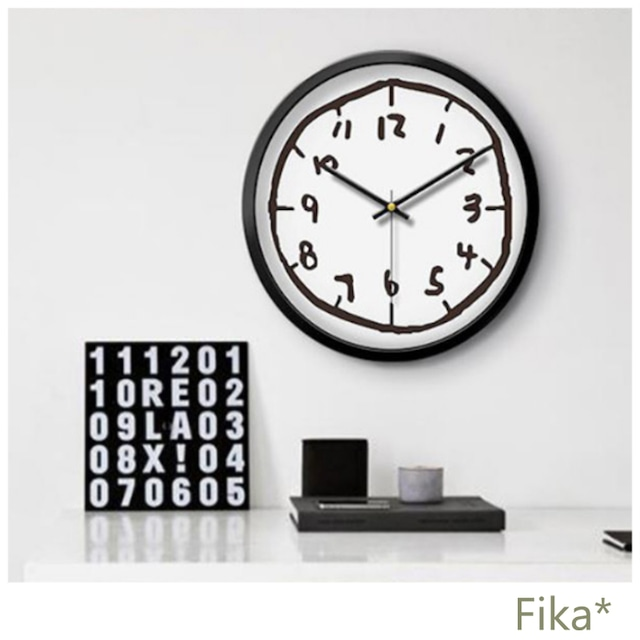 【韓国人気雑貨】北欧風 手描きの雰囲気がカワイイ壁掛け時計
