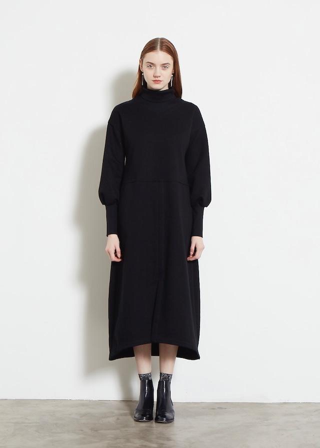 DOUBLE KNIT HIGH NECK DRESS