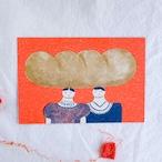 【ひろせべに】ポストカード「パン」