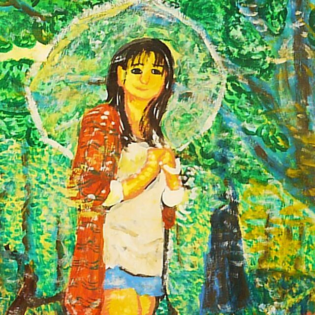 ビニール傘の女