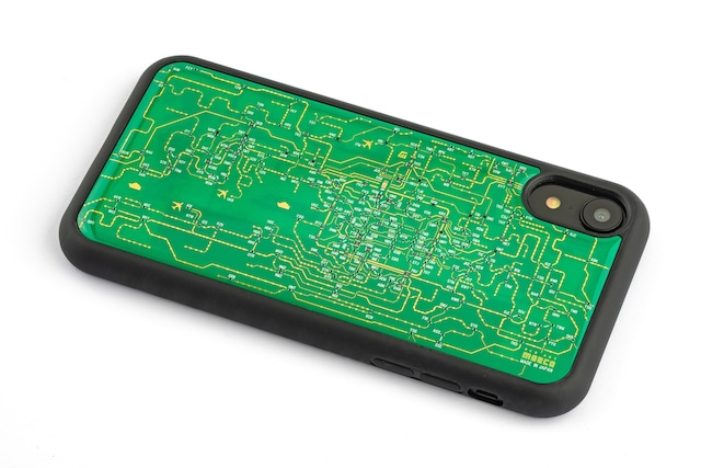 FLASH 関西回路線図 iPhone XRケース 緑【東京回路線図A5クリアファイルをプレゼント】