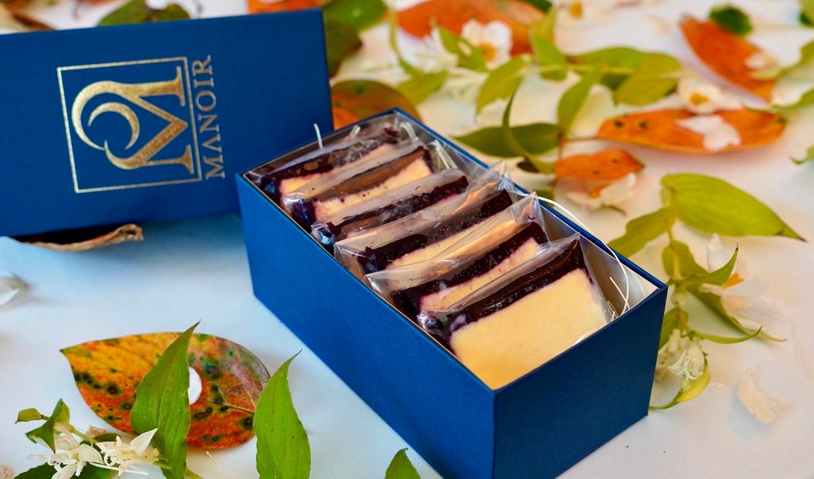 北海道白糠町の赤紫蘇ブルーベリーチーズケーキ 6枚入りセット