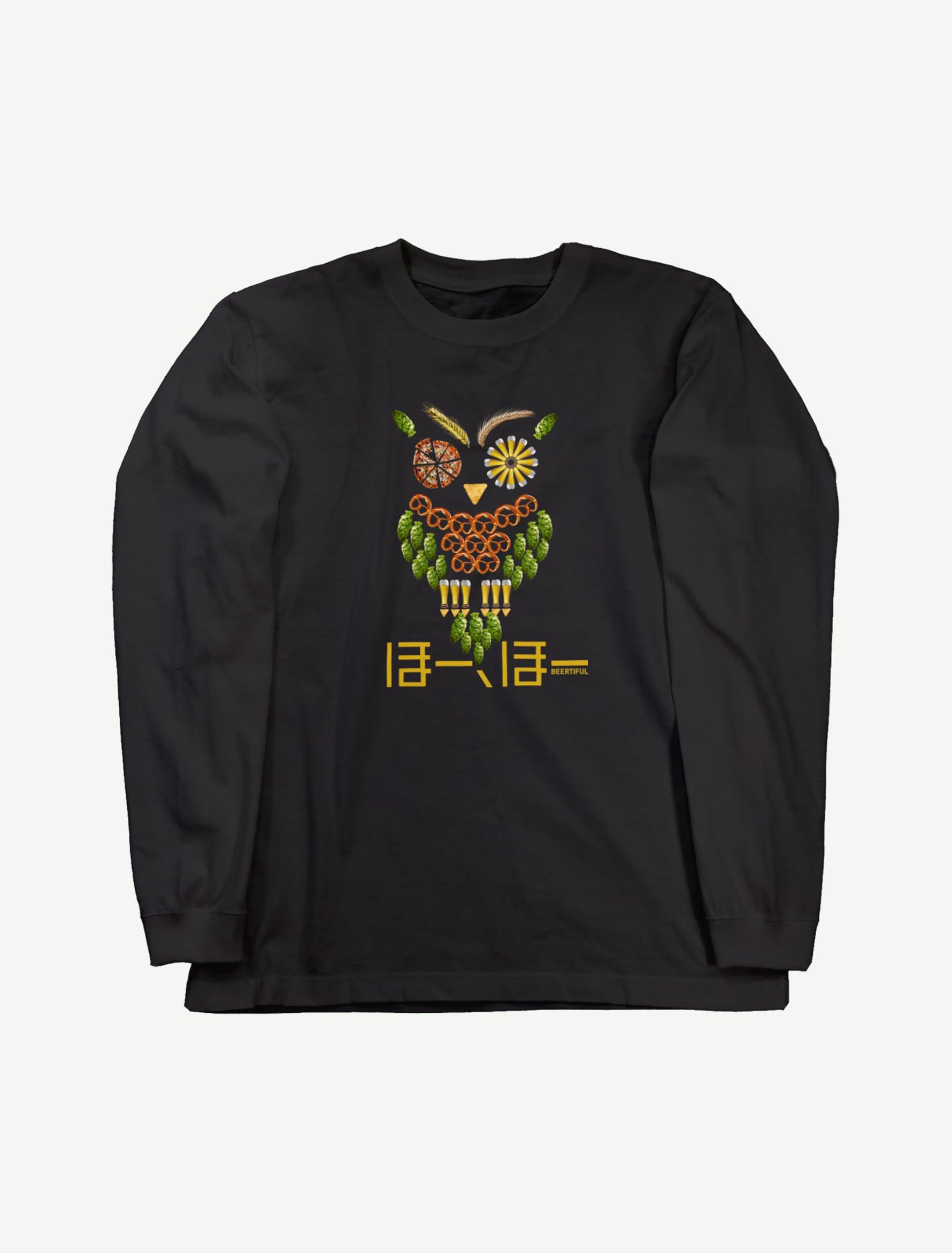 【フクロウ】ロングスリーブTシャツ