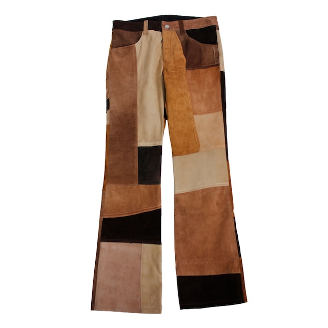 CHILDREN OF THE DISCORDANCE Vintage Leather Patch Pants Blown