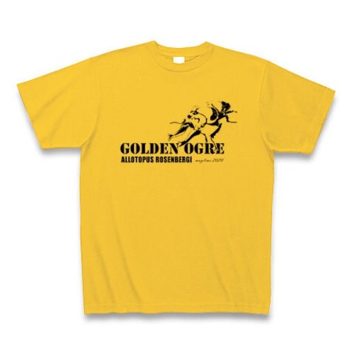 オウゴンオニクワガタ Tシャツ -maylime- オリジナルデザイン ゴールドイエロー(個体限定色)