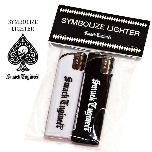 SMACK ENGINEER / スマックエンジニア「SYMBOLIZE LIGHTER」スライド式ライター2個セット 黒 白 ブラック ホワイト スペード スカル ドクロ メンズ レディース ROCK PUNK ロック パンク バンド ギフトラッピング無料 ステージ衣装 Rogia