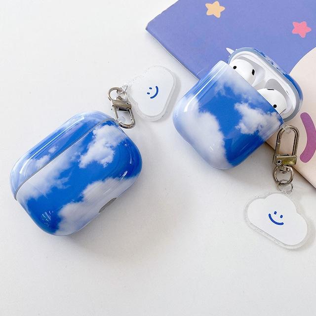 キーホルダー付き♪ Cute sky airpods case