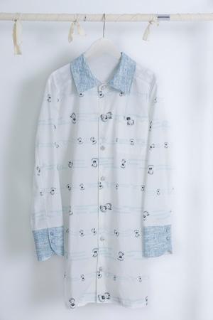 NIGATSU 雲遊びのパジャマシャツ