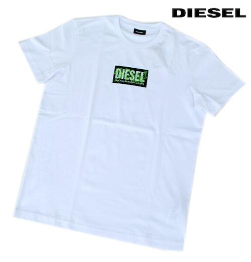 DIESEL ディーゼル Tシャツ 半袖 プリント Tシャツ メンズ T-DIEGO-N34 WHITE 2020 秋モデル 送料無料