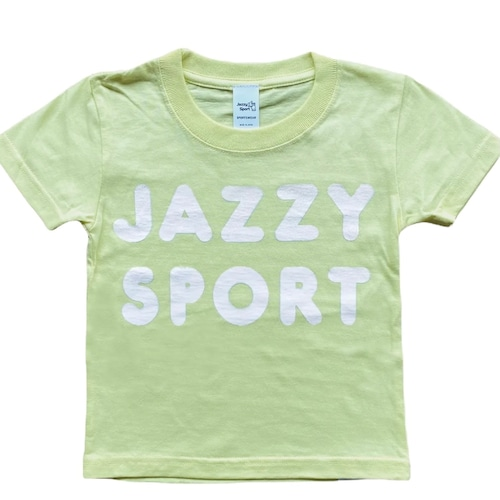"JS ""Americana"" ロゴ キッズ Tシャツ/ライトイエロー"