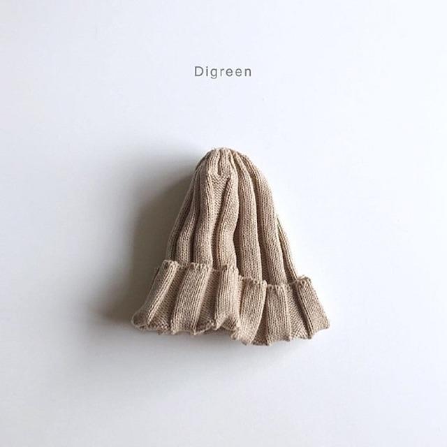 リブニット帽 [beige]