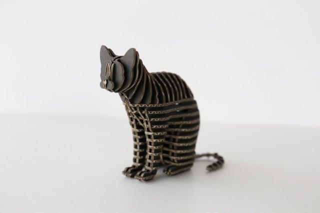 FLATS立体型パズル 座り猫/cat110A