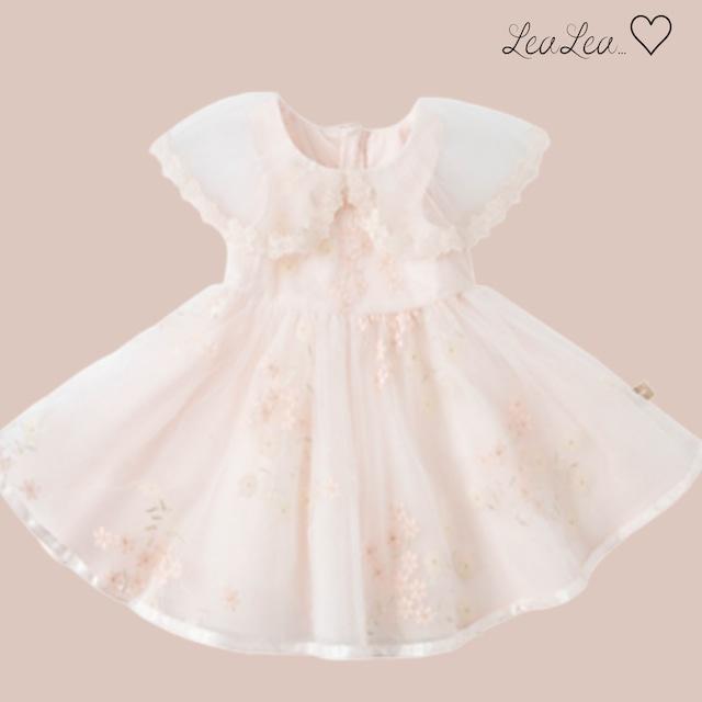 dave&bella♡フラワー刺繍ピンクドレス(73cm-140cm)| LeaLea...♡(レアレア)-海外の子供服セレクトショップ