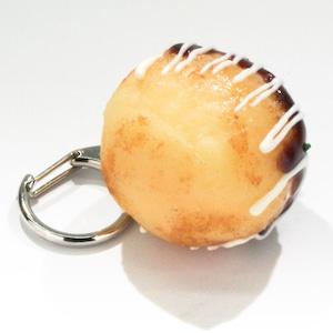 たこ焼き (マヨネーズ) 食品サンプル キーホルダー ストラップ
