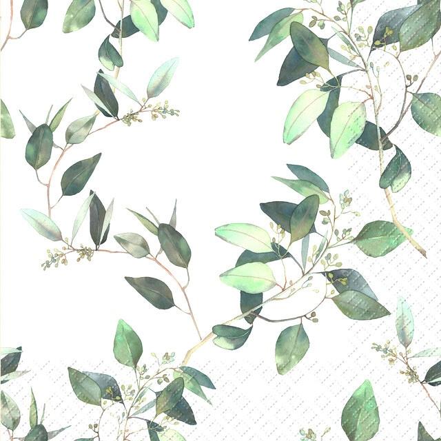 【Stewo】バラ売り2枚 ランチサイズ ペーパーナプキン Eulalia ホワイト